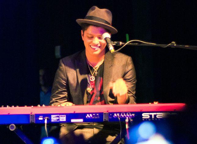 Bruno Mars on keyboard